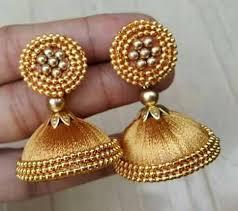 buy beautiful silk thread earring online