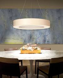 led dining room lighting ring shade 32 inch led pendant light by sonneman interior deluxe