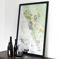california map framed wine map of california