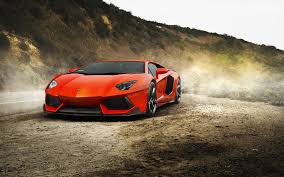 lamborghini aventador on the road lamborghini aventador on the side of a mountain road wallpapers