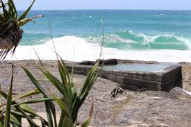 pool by the beach at snapper rocks coolangatta qld australia