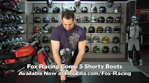 motor racing footwear fox racing comp 5 boots review at revzilla com youtube