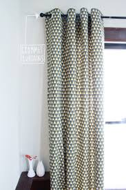 Curtain Patterns To Sew Tutorial Diy Grommet Curtains