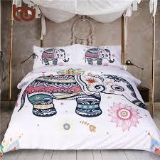 beddingoutlet 3 pcs rainbow mandala elephant duvet cover set
