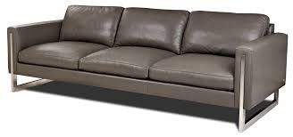 American Leather Sofas by American Leather Savino Sofa With Smooth Seat And Back Cushions