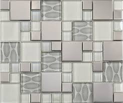 stainless steel mosaic tile backsplash glass mosaic tile backsplash ssmt109 silver metal mosaic stainless