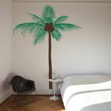 palm tree wall decal 2017 grasscloth wallpaper tall coconut palm tree wall decal
