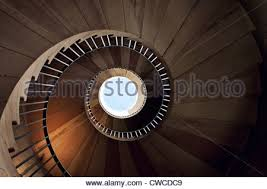 old spiral staircase from above stock photo royalty free image