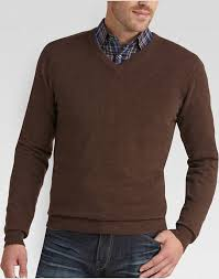 brown sweater joseph abboud brown v neck sweater s s wearhouse
