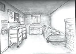 draw room 3d bedroom drawing how to draw a room grade perspective drawing one