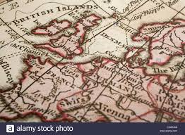 Map Of Britain Old Map Of Britain And Europe With The Focus On London Map Is