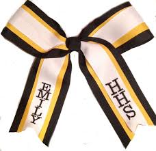 personalized bows personalized cheerleading hair bows personalized cheer bows
