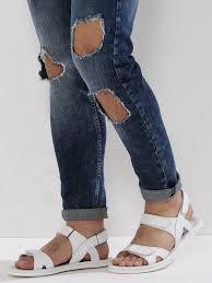 buy sandals with velcro straps for men men u0027s white flip flops
