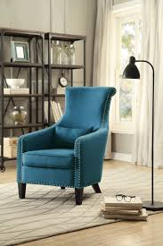 homelegance arles accent chair with 1 kidney pillow blue 1270f3s