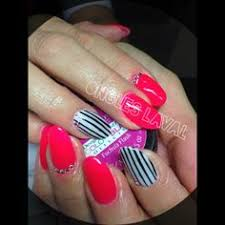 multi color lava l http www facebook com onglelaval mulricolor nails black and pink