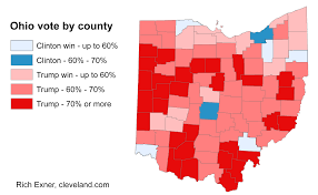 Ohio Map By County by Trump Had At Least 70 Percent Of The Vote In 30 Ohio Counties 6