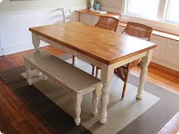 rustic white bench for kitchen table kitchen table sets bench