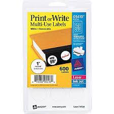 avery 05410 white printable removable self adhesive multiuse id