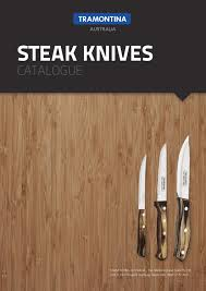 Kitchen Knives Australia by Tramontina Steak Knives Catalogue By Tramontina Australia Issuu