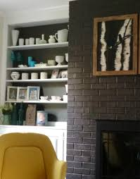 Yellow Fireplace Painted Brick Painted Fireplace Mid Century Yellow Chairs Retro