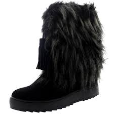 s yeti boots womens winter eskimo waterproof fur lined warm mid calf yeti