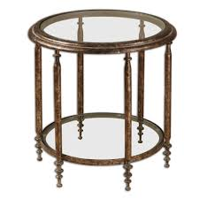 uttermost accent tables uttermost leilani round accent table