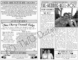 newspaper wedding programs the day of the rest of my with you rockabilly style