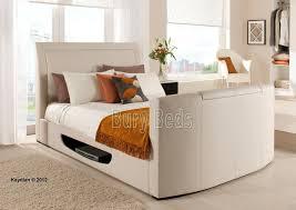 Kingsize Tv Bed Frame Leather Stanton King Size Tv Bed Frame Inc Free Pocket Memory