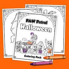 printable paw patrol halloween coloring pack jinxy kids