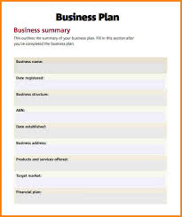 restaurant business plan template 6 download free documents