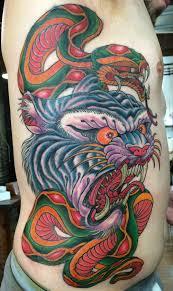 snake tiger tattoo tattoos u2014 dave fox tattoos