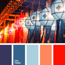 red and violet color palette ideas