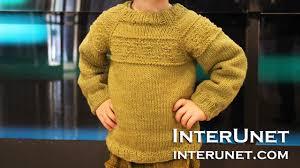 knit a raglan sleeve sweater for a toddler boy rhombus pattern