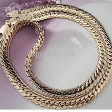 rose gold men necklace images 2018 heavy 18k rose gold filled men 39 s herringbone necklace 22gf jpg