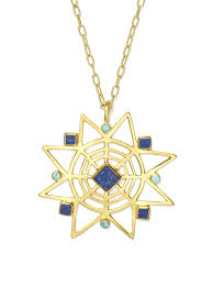 long turquoise pendant necklace images Star lapis and turquoise pendant necklace jpeg