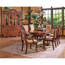 steve silver 7 piece harmony dining table set cherry walmart com