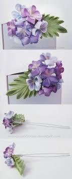 kanzashi hair pin violet bouquet kanzashi hair pin by whimsicalartisan on deviantart