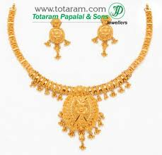 gold necklace earrings set images 22 karat gold necklace drop earrings set gold earrings 22 carat jpg