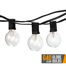 Clear Globe String Lights Outdoor by Brightech Store Ambience U2013 Outdoor String Lights With 25 G40