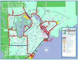 Michigan Traffic Map by Top Of Michigan Trails Council Alpena Bi Path