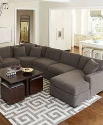 Leather With Fabric Sofas Leather And Fabric Sectional Sofas Foter