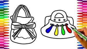 how to draw handbags for girls easy design drawing and coloring