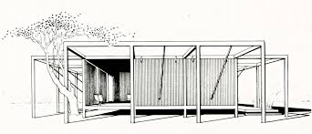 House Drawing by A Spider In The Sand Paul Rudolph U0027s Antidote To Cold War Paranoia