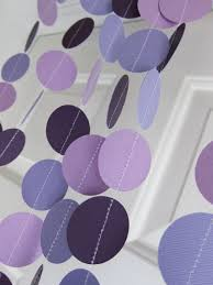 paper garland shades of purple garland u0027s birthday party