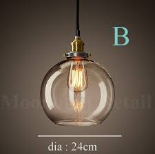 Glass Ceiling Pendant Light New Modern Vintage Industrial Retro Loft Glass Ceiling L Shade