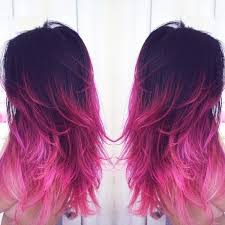 mermaid hair extensions black to pink ombre hair mermaid colorful indian remy clip in hair