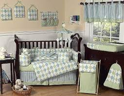 blue and green argyle crib bedding set by sweet jojo designs 9