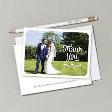 wedding thank you postcards personalised wedding photo thank you postcards by doodlelove