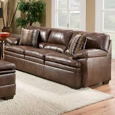 Brown Bonded Leather Sofa Simmons Upholstery Editor Bonded Leather Sofa Brown Walmart Com