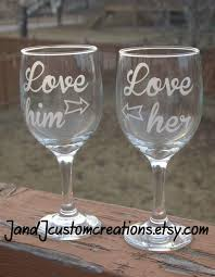 his hers wine glasses couples wine glass set his and hers wine glasses him